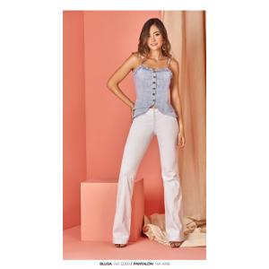 Blusa de tiras con botonadura en el frente Mujer Ref 32280