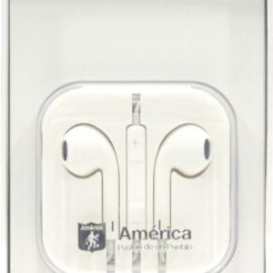 Auricular con cable América                                         Color Blanco