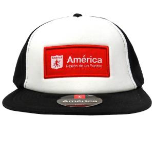 Gorra Deportiva Logo América                                          Color Negro/Blanco
